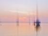 Dezember: Gottfried Reif - Abendstimmung mit Booten